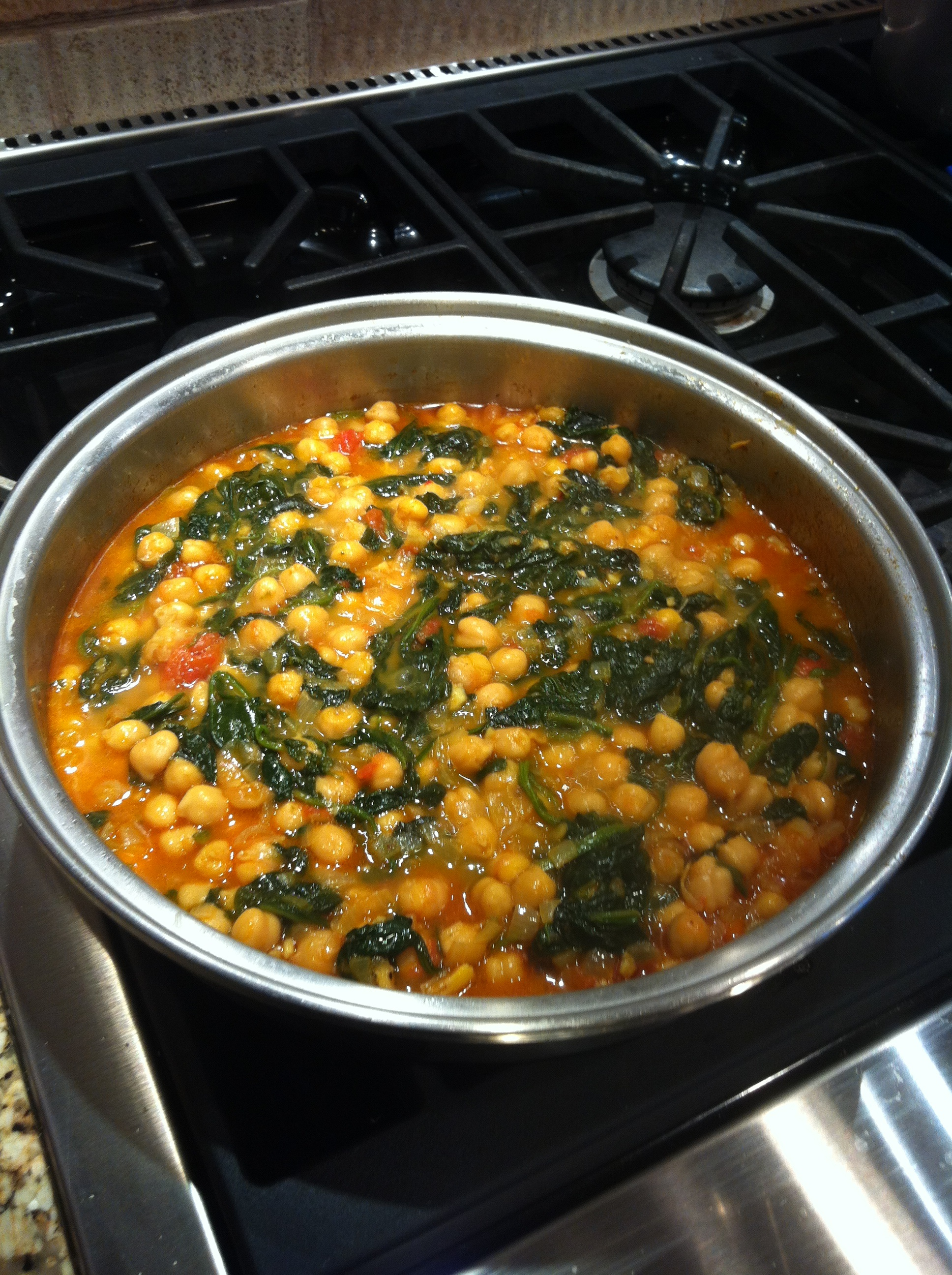 Chickpeas With Spinach Recipes — Dishmaps