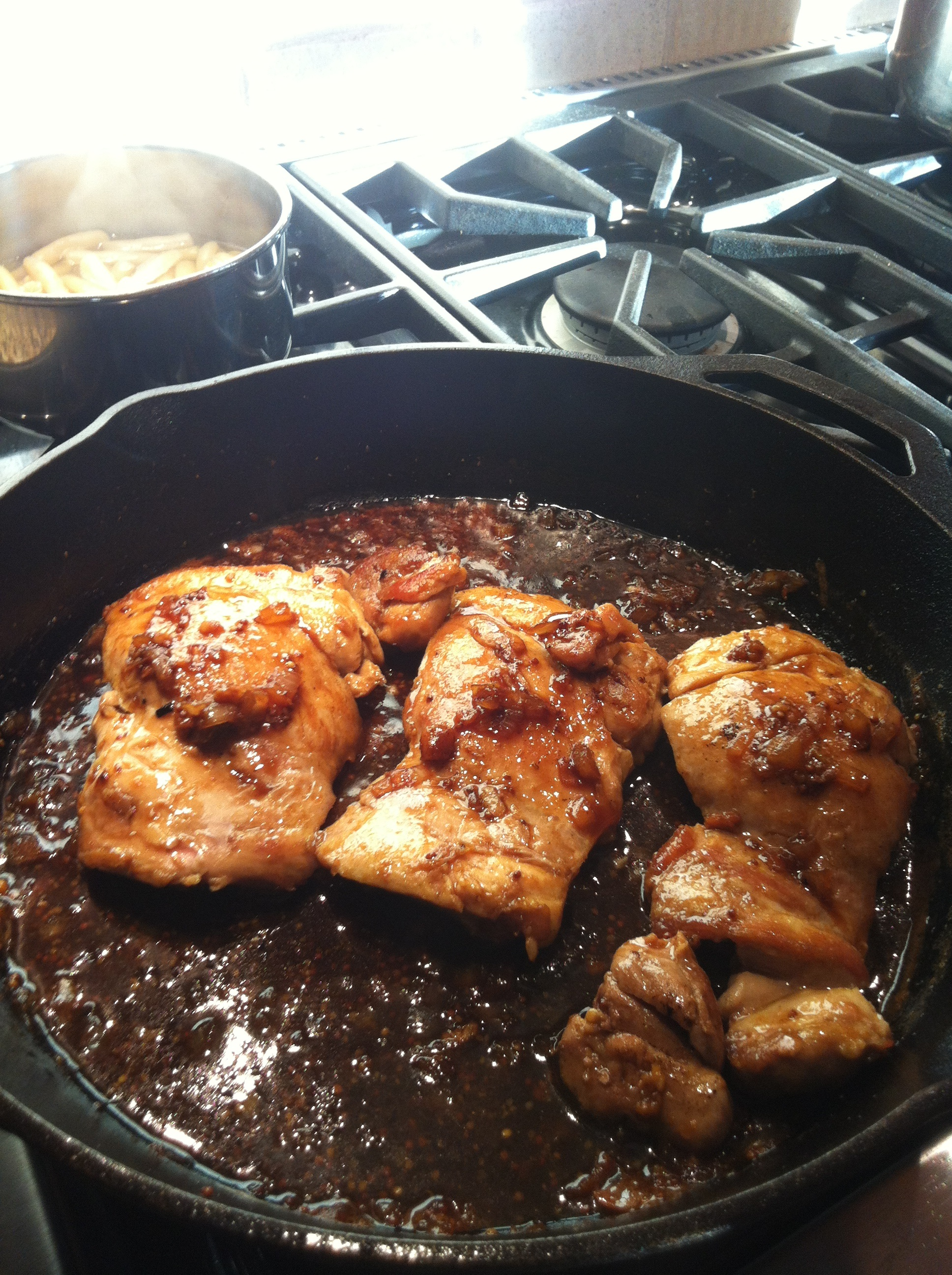 Chicken with Wheat Beer Honey Reduction | Smartchefblog